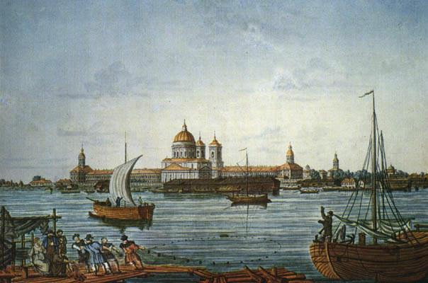 Гравюра Иванова. Общий вид лавры в 1815 г.