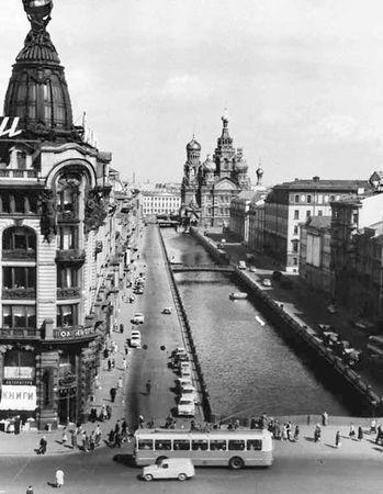 "Здание Дома книги. Открытка из набора ""Ленинград"". 1963 г."