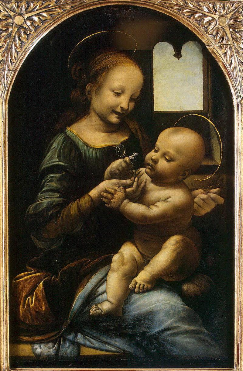 Леонардо да Винчи. Мадонна с цветком (Мадонна Бенуа) (1478), источник фото: http://www.liveinternet.ru/users/3485865/post233213742/