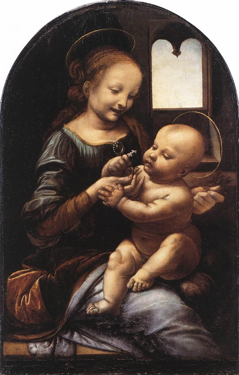 Леонардо да Винчи Мадонна Бенуа. (Wikimedia Commons)