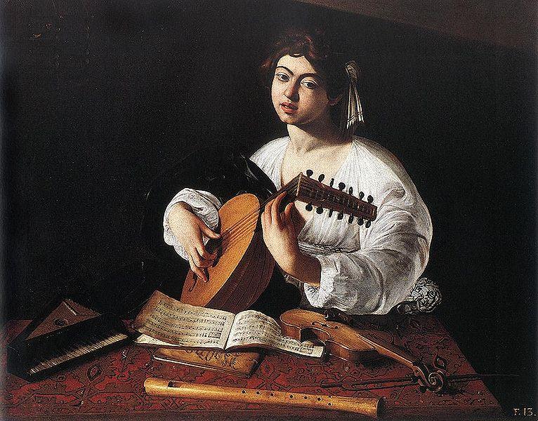 """""""Юноша с лютней"""", Караваджо, источник фото: Wikimedia Commons"""