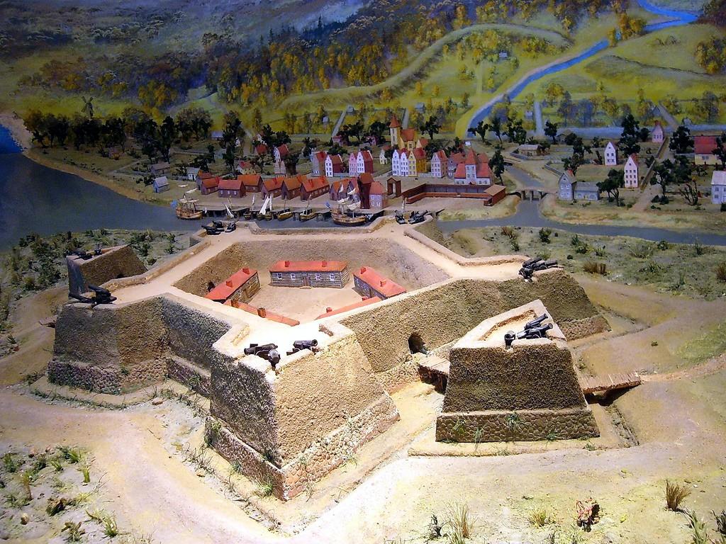 Макет крепости Ниеншанц в музее. Автор фото: Evgeny Gerashchenko (Wikimedia Commons)