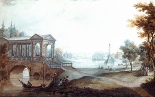 Царское Село. Мраморный мост. Википедия