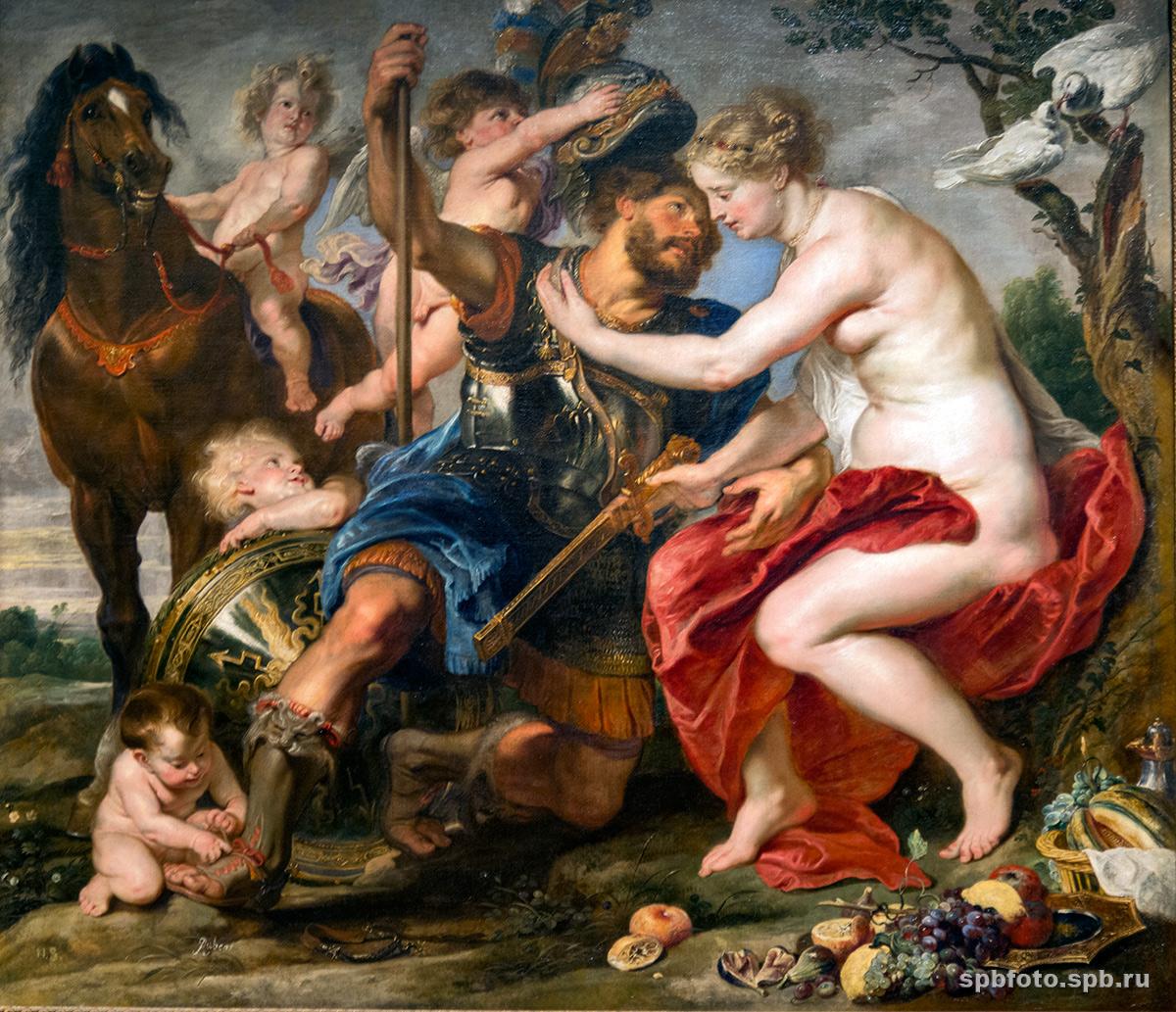 Марс и Венера. Питер Пауль Рубенс, 1622–1625 годы, источник фото: http://spbfoto.spb.ru/foto/details.php?image_id=1198