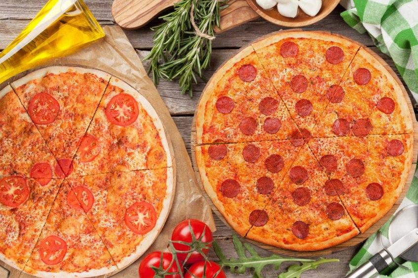 Пиццы в меню. Парк развлечений MazaPark