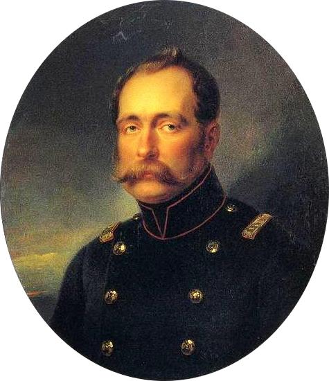Великий Князь Михаил Павлович, портрет И.Крамского. ГРМ. Ж-2716