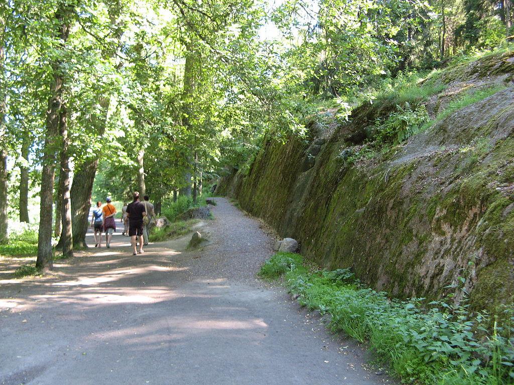 Скальные выступы в парке Монрепо. Фото: Милашин П. А. (Wikimedia Commons)