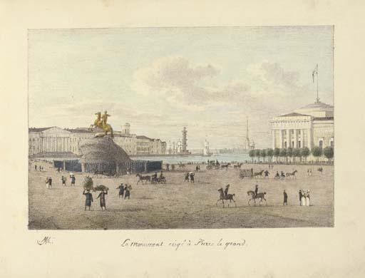 Сенатская площадь с монументом Петру I. Начало XIX века, источник фото: Wikimedia Commons, Автор:  Andrey Yefimovich Martynov
