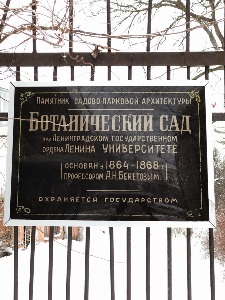 Ботанический сад СПбГУ. Фото: vk.com/spbu.hortus