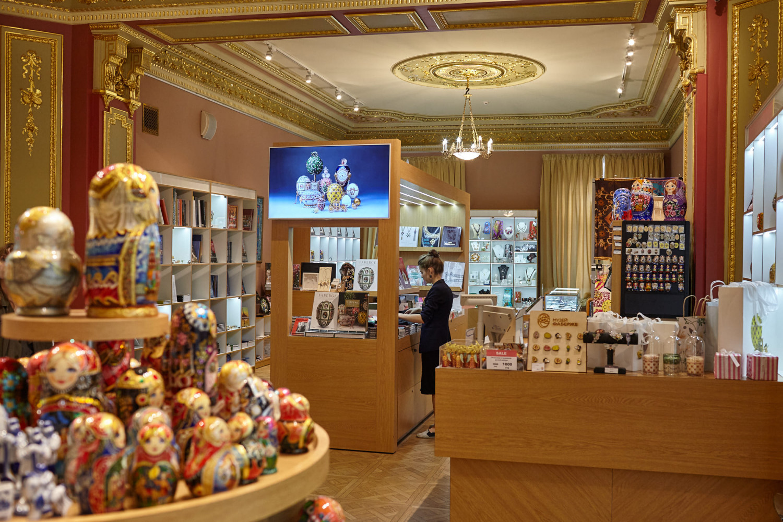 Магазин музея Фаберже в Санкт-Петербурге
