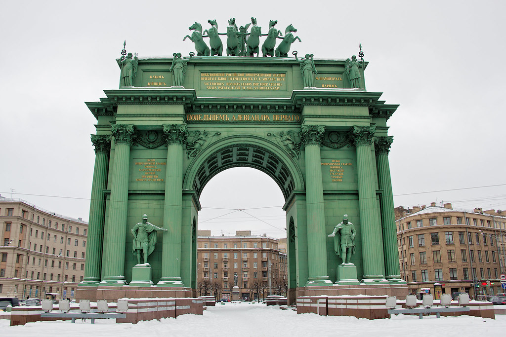 Нарвские триумфальные ворота, фото с сайта Flickr.com