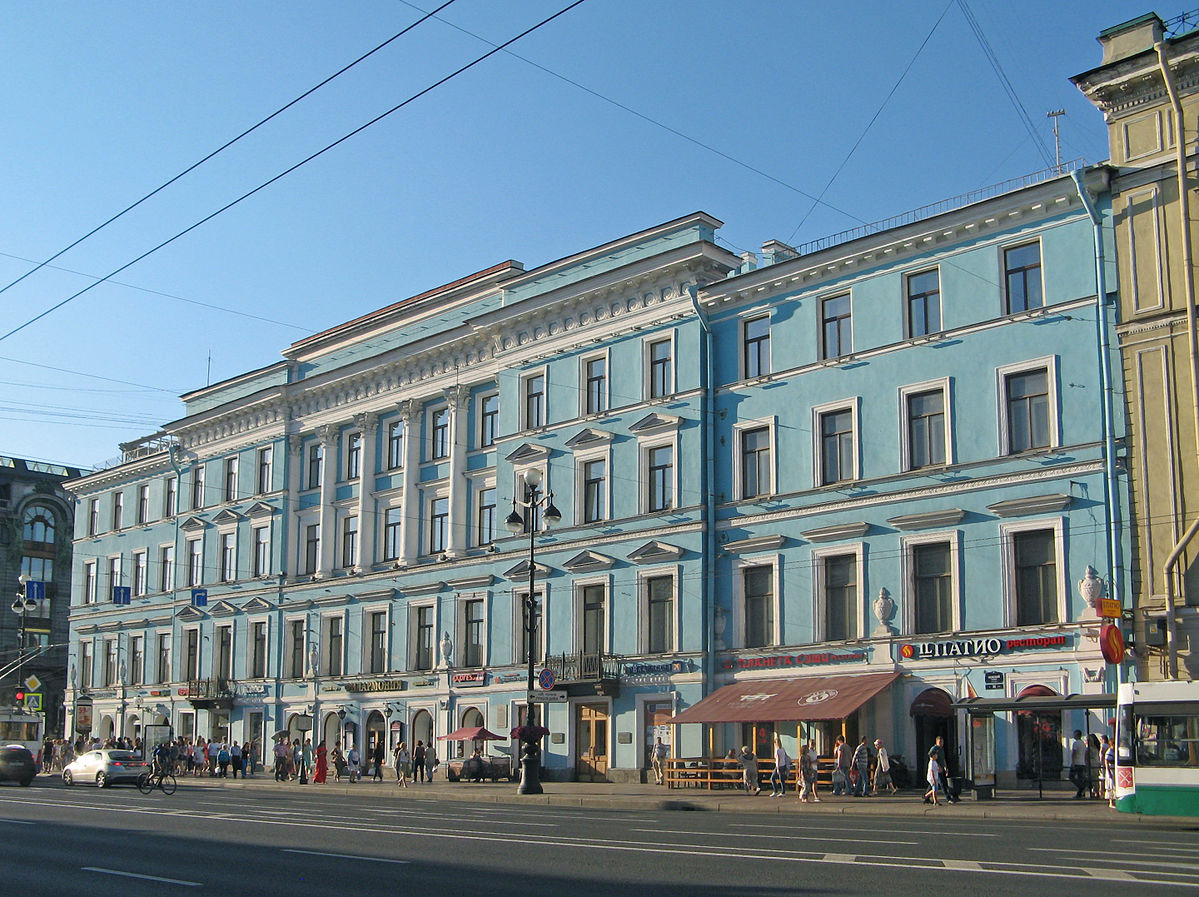 Фасад дома Энгельгардта по Невскому проспекту. Фото: Екатерина Борисова (Wikimedia Commons)