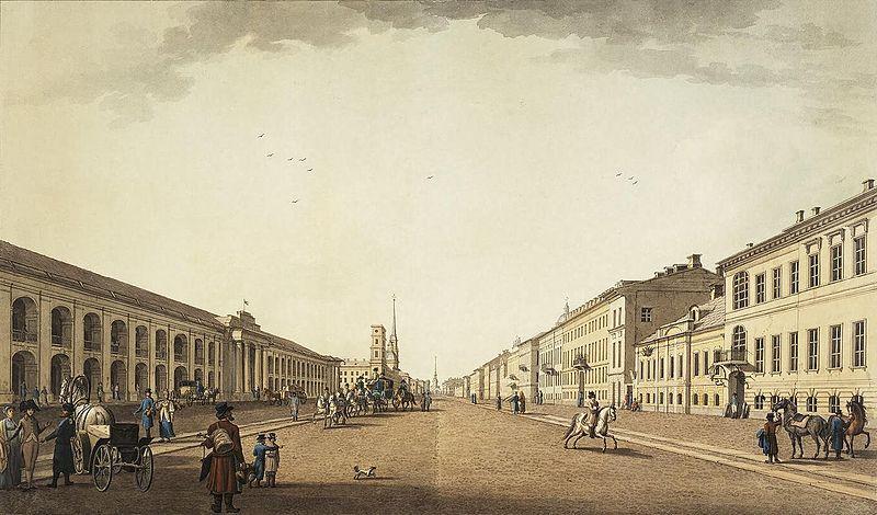 Невский проспект, 1799 - 1800 гг.