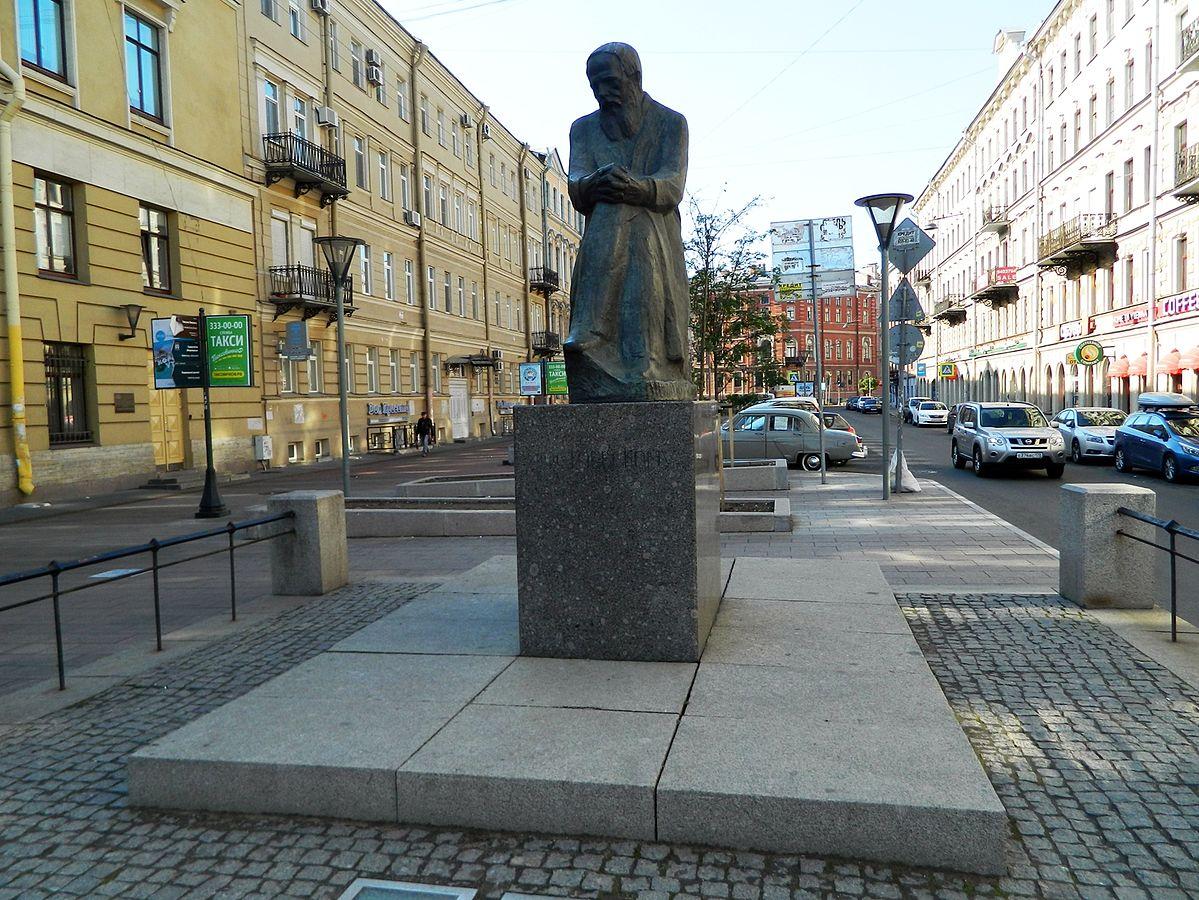 Памятник Ф. М. Достоевскому (Санкт-Петербург), фото из Википедии — свободной энциклопедии, Автор:  Тара-Амингу