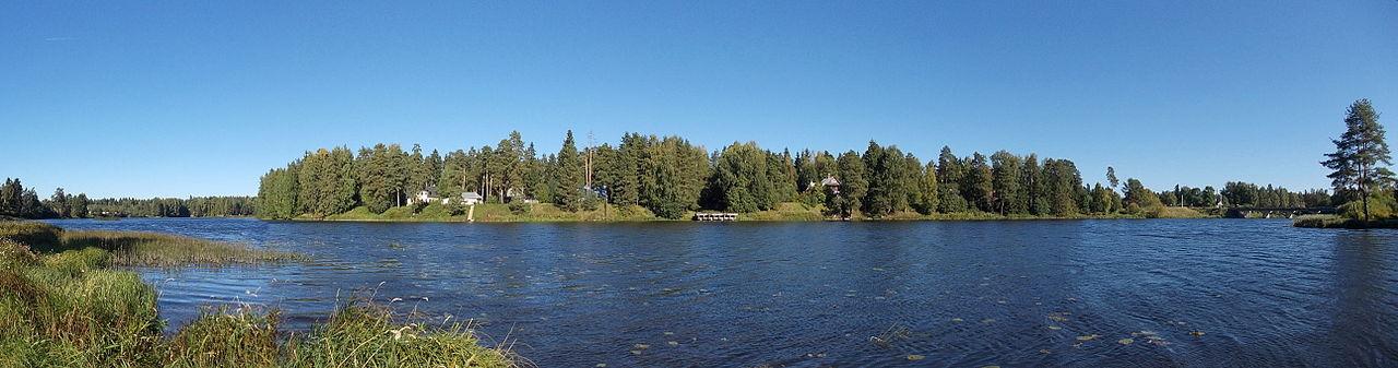 Панорама Вырицкого водохранилища на реке Оредеж. Фото: Uz1awa (Wikimedia Commons)