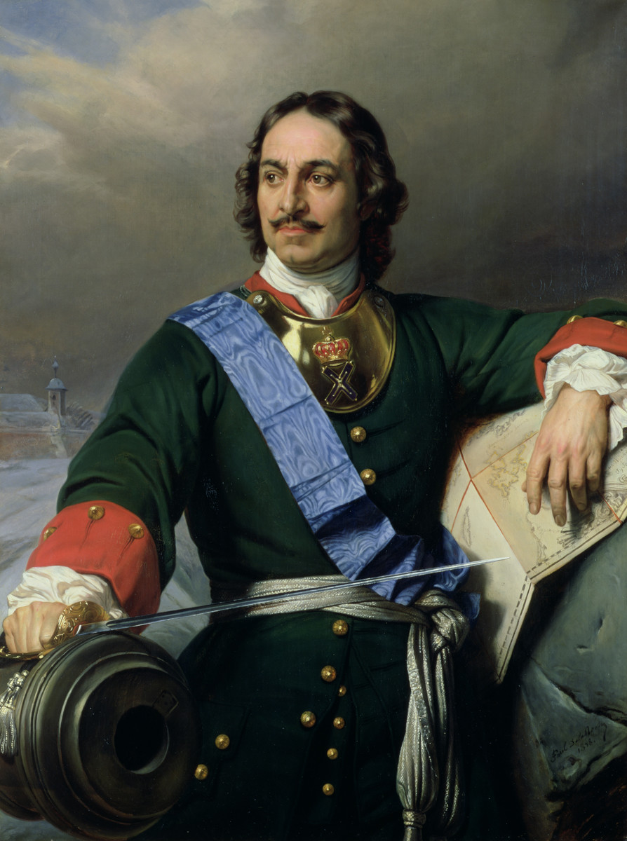 Романтизированный портрет Петра I Поль Деларош, 1838 г.
