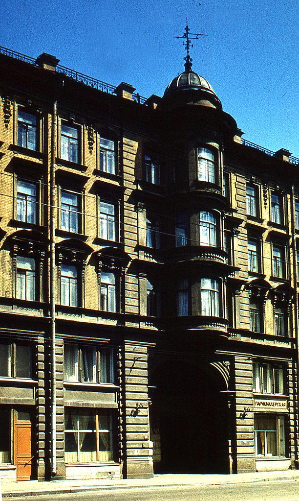 Дом на Гороховой, где проживал Распутин (с окнами на двор). Автор фото: Витольд Муратов (Wikimedia Commons)