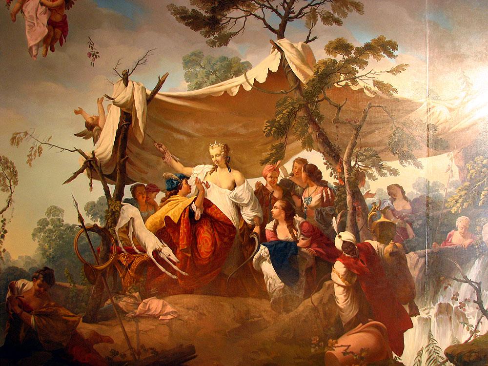 """Центральная часть плафона """"Освобождённый Иерусалим"""". Автор фото: Андрей Корзун (Wikimedia Commons)"""