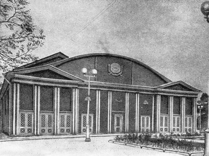 Летний театр Измайловского сада фото 1960 г.  Фото: citywalls.ru
