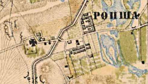Ропша на карте 1885 г. Карта Санкт-Петербургской губернии