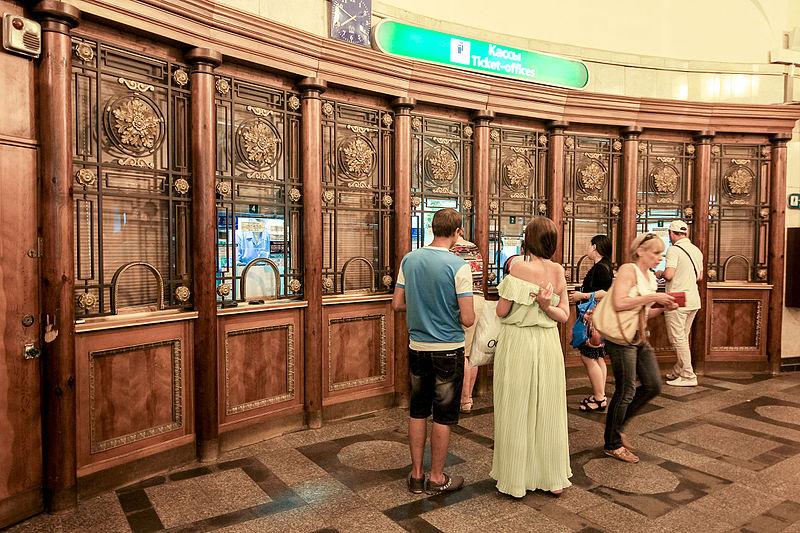 "Станция ""Площадь Восстания"". Кассы. Автор фото: Antares 610 (Wikimedia Commons)"