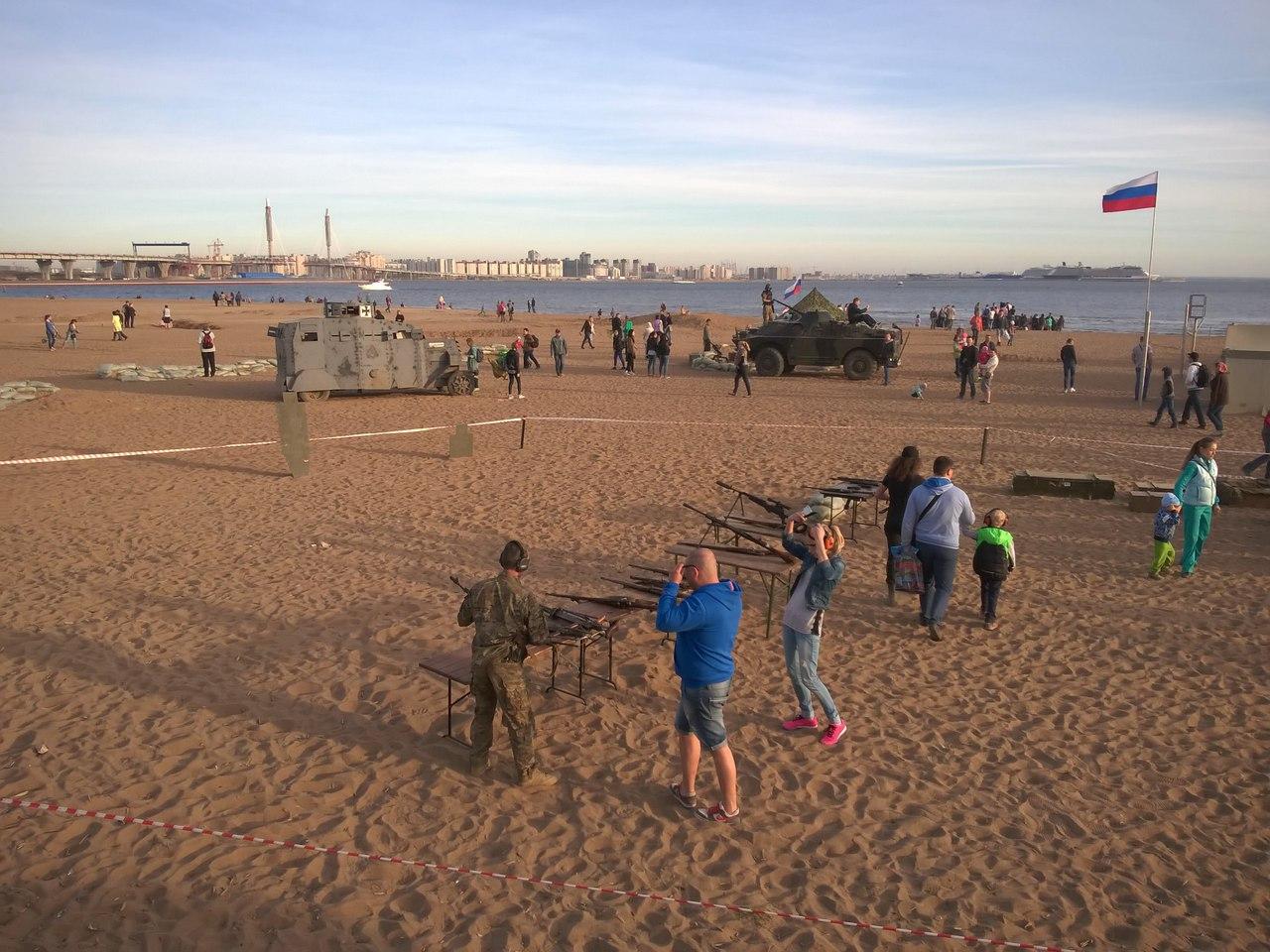 Пляж в Парке 300-летия Санкт-Петербурга. Автор фото:Артем Каплеев