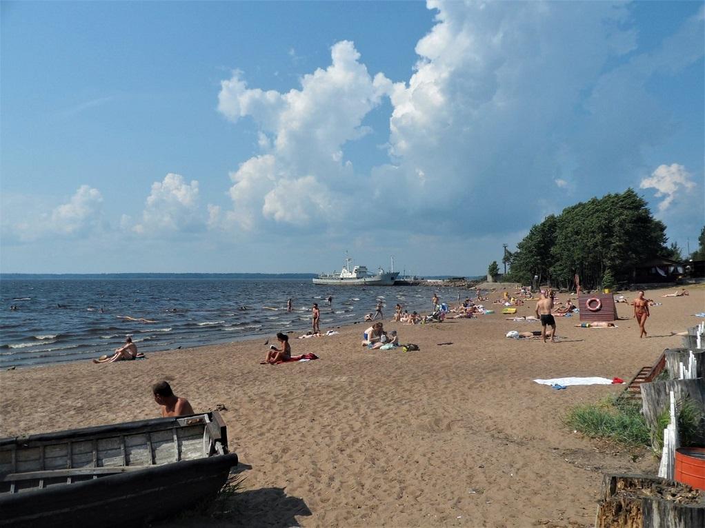 Пляж в Выборге
