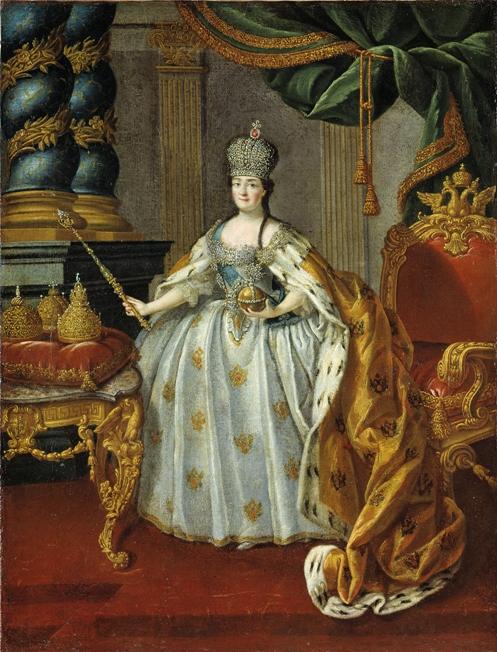 Портрет Екатерины II, 1766 г. Русский музей