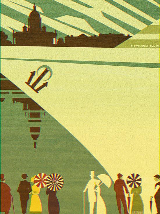 Постер с символикой Санкт-Петербурга. Автор: Алексей Хамкин