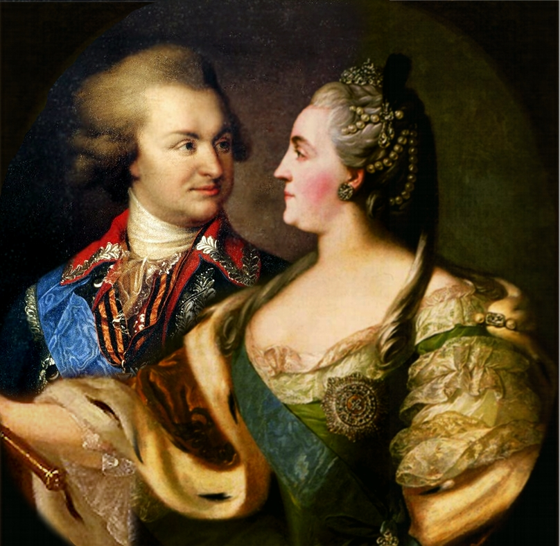 Григорий Потемкин и Екатерина II. Коллаж. Источник: https://commons.wikimedia.org/