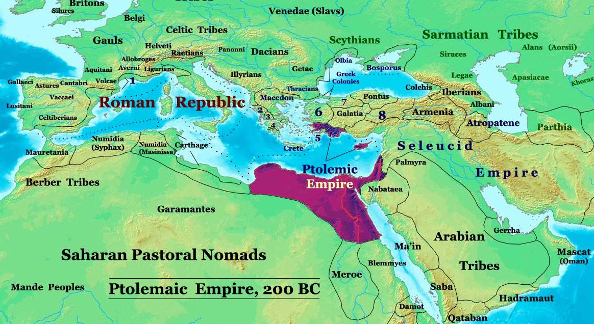 Карта империии Птолемеев и Александрии. Источник: https://uk.wikipedia.org/