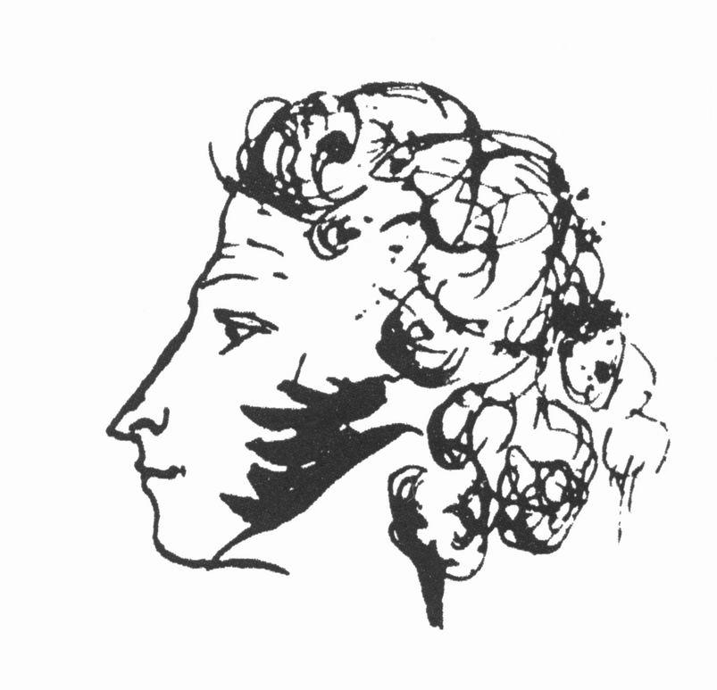 Русский писатель и поэт Пушкин Александр Сергеевич (1799-1837). Автопортрет на листе. (Wikimedia Commons)