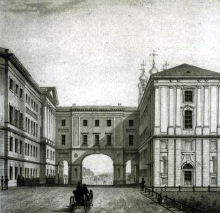 Лицей на рисунке XIX в. (Wikimedia Commons)