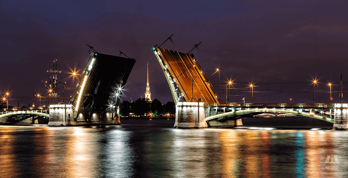 Развод Биржевого моста. Фото: regnum.ru