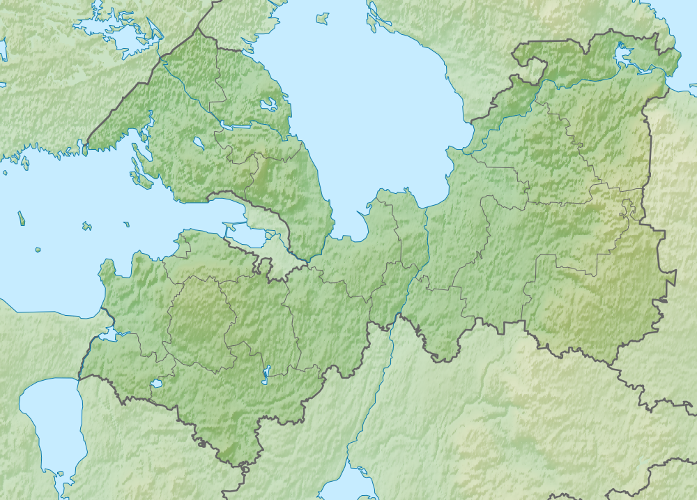 Позиционная карта Ленинградской области. Автор фото: Виктор В (Wikimedia Commons)