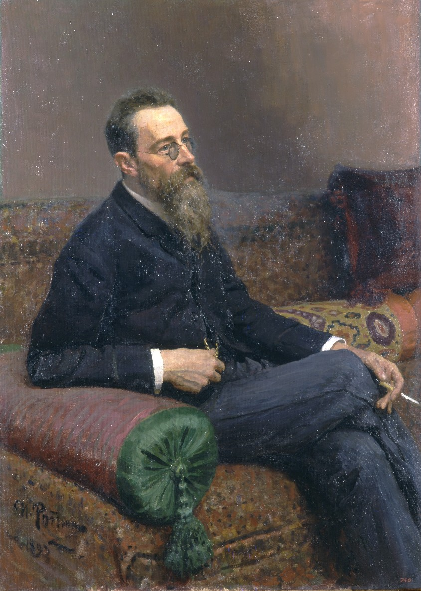 И. Е. Репин. Портрет Н. А. Римского-Корсакова, 1893 г. (Wikimedia Commons)