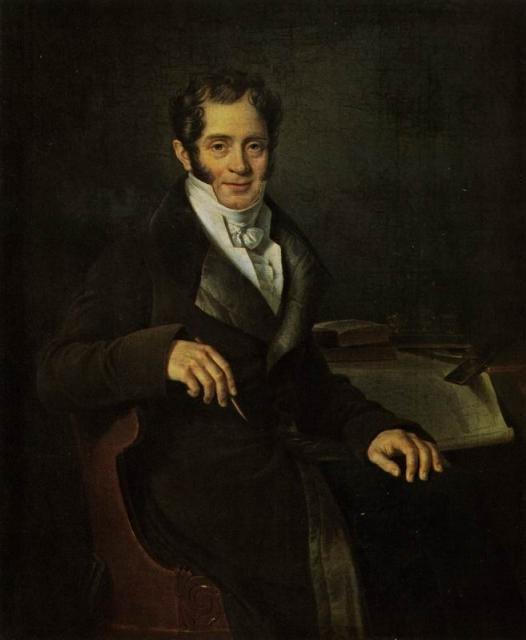 Б. Ш. Митуар. Портрет Карла Ивановича Росси. 1820-е гг.