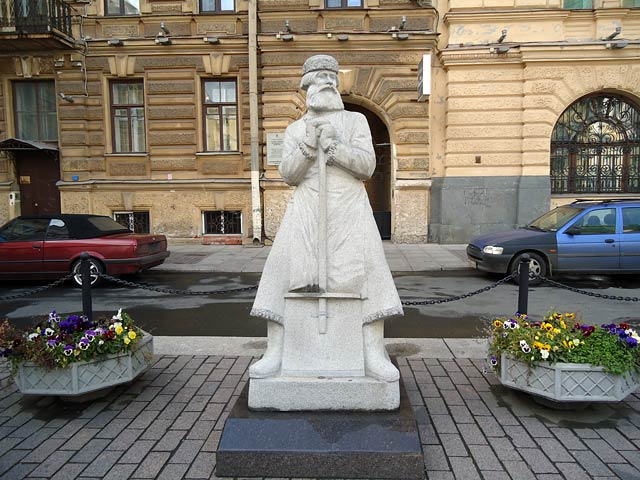 Памятник Дворнику в Санкт-Петербурге, источник фото: http://s-pb.in/pamyatniki-spb/pamyatnik-dvorniku