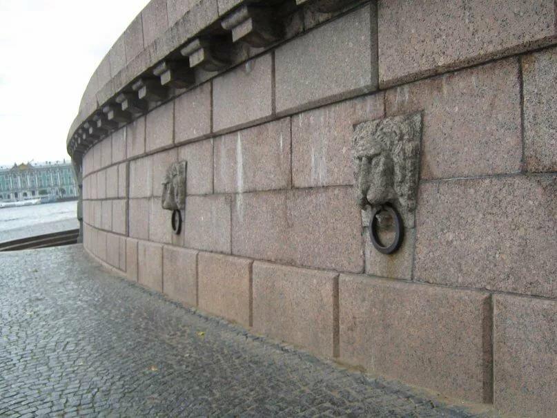 Львы на набережной стрелки Васильевского острова. Фото: yandex.ru