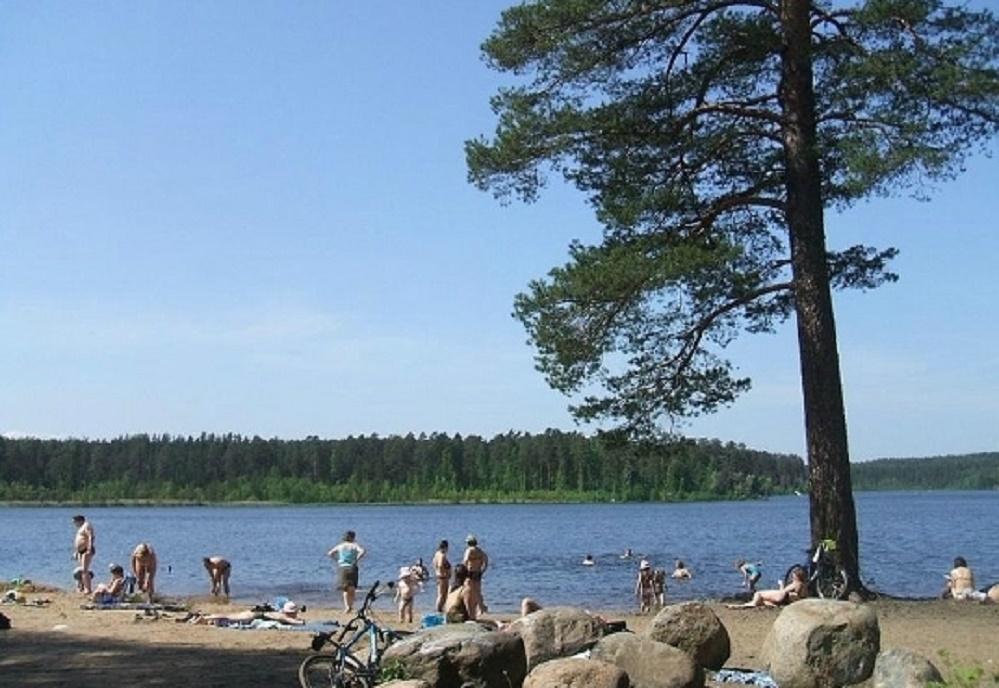 Пляж на Щучьем озере