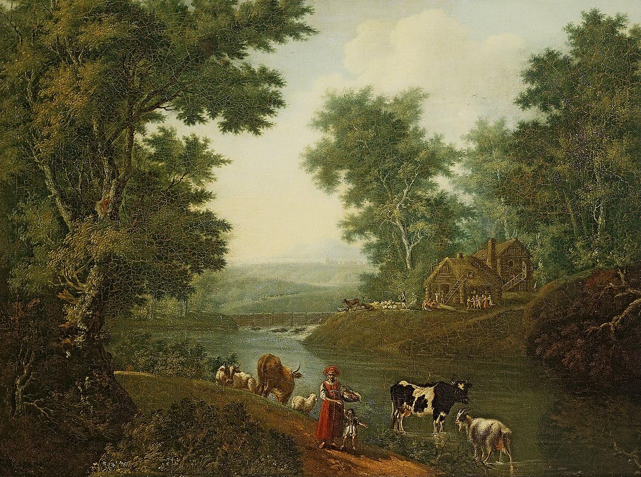 Таицкий парк на картине C. Ф. Щедрина, 1780-е годы. (Wikimedia Commons)