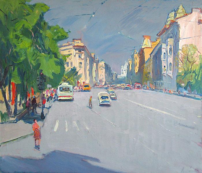 Семенов А. Суворовский проспект. 1980, источник фото: Wikimedia Commons,