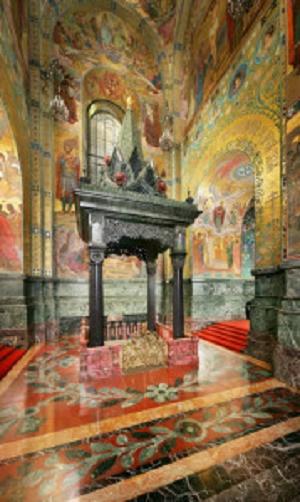 Сень над местом смертельного ранения императора Александра II, источник фото: http://spas.spb.ru/?page_id=55