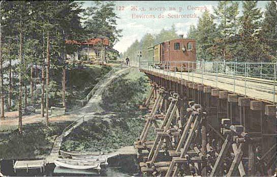 Виды г. Сестрорецка на открытках до 1917 г.