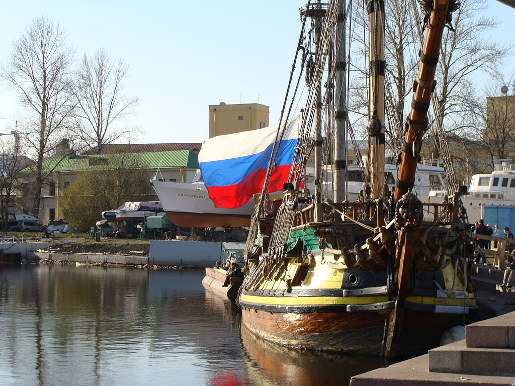 Штандарт у яхт-клуба, 2008 г. Фото: Алексей Решетников (Wikimedia Commons)
