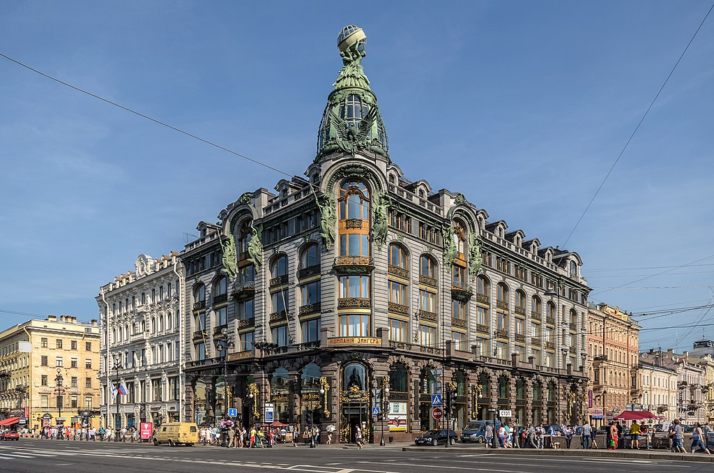 "Дом компании ""Зингер"" (Дом Книги) на Невском проспекте. Автор фото: Florstein (WikiPhotoSpace)"
