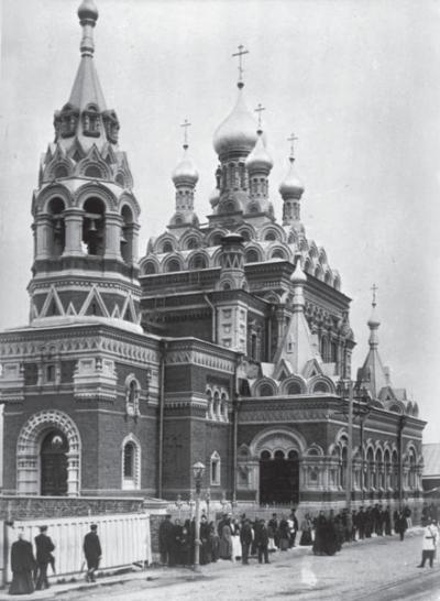 Скорбященская церковь в Стеклянном городке. Фото начала ХХ в.