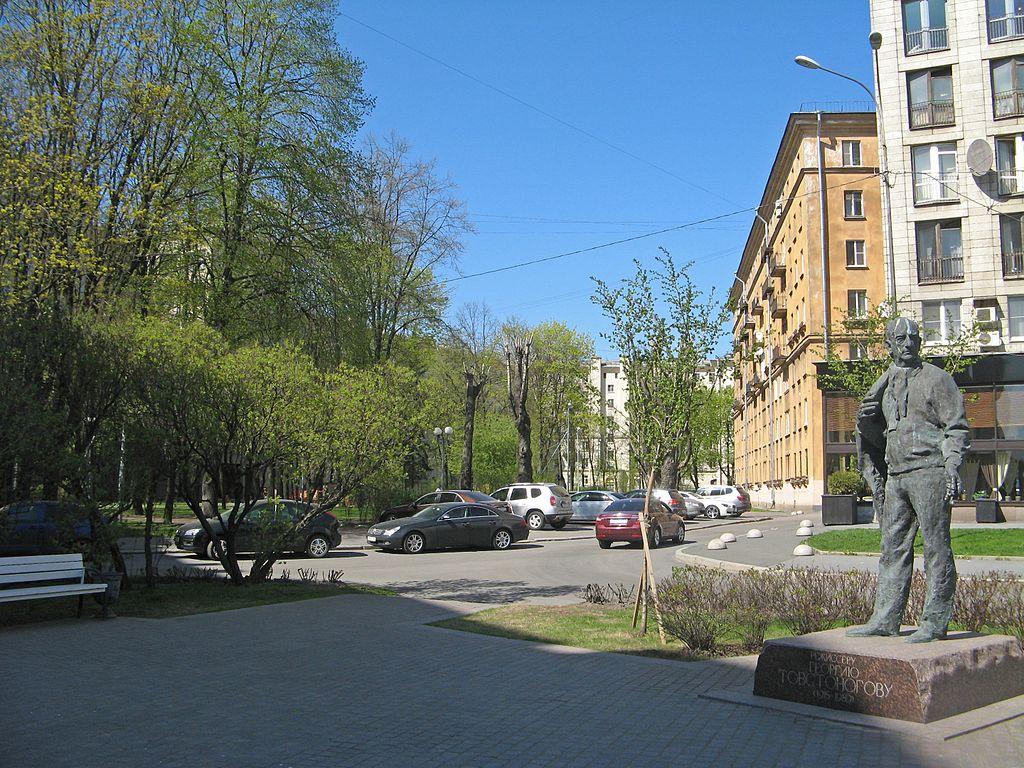 Сквер Товстоногова. Автор фото: Екатерина Борисова (Wikimedia Commons)
