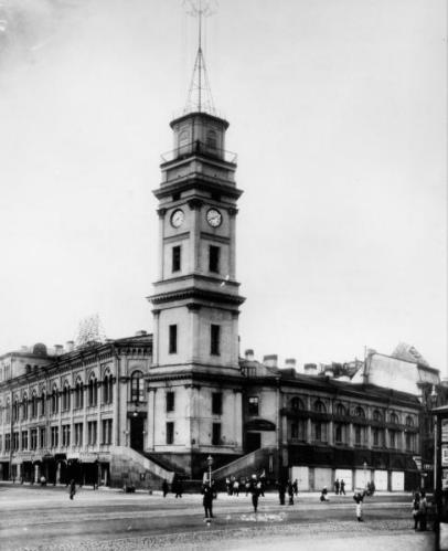 Вид на здание Городской Думы с Невского проспекта в 1890 году. Автор: Ghirlandajo, Wikimedia Commons