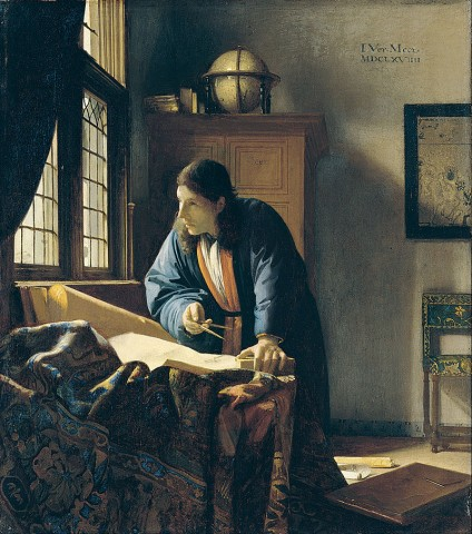 """Ян Вермеер """"Географ"""", источник фото: https://vk.com/hermitage_museum"""